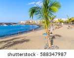 palm tree on a beach in san... | Shutterstock . vector #588347987