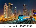 driverless metro train with... | Shutterstock . vector #588351341