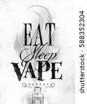 poster with vaporizer and smoke ... | Shutterstock . vector #588352304