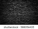 gloomy background  black brick...   Shutterstock . vector #588356435