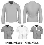 vector. men's polo shirt design ... | Shutterstock .eps vector #58835968