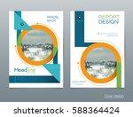 vector design brochure flyer ...   Shutterstock .eps vector #588364424