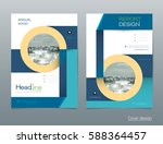 vector design brochure flyer ... | Shutterstock .eps vector #588364457