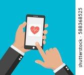 modern flat concept medical app.... | Shutterstock .eps vector #588368525