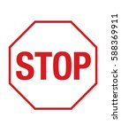 vector stop sign | Shutterstock .eps vector #588369911