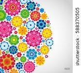 flowers spring design on a... | Shutterstock .eps vector #588370505