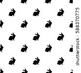 Stock vector seamless rabbit pattern to easter holiday vector illustration 588370775