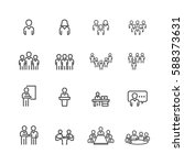 business and meeting set icons... | Shutterstock .eps vector #588373631