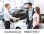 congrats with your new car ... | Shutterstock . vector #588373967