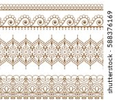 ornamental seamless brown... | Shutterstock .eps vector #588376169