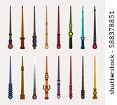various wizards of magic wand...
