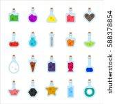 glass bottles with various... | Shutterstock .eps vector #588378854