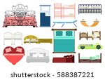 exclusive sleeping furniture... | Shutterstock .eps vector #588387221