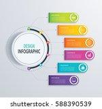 timeline infographic design... | Shutterstock .eps vector #588390539