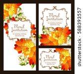 vintage delicate invitation...   Shutterstock . vector #588393557