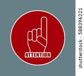 attention sign icon. hazard... | Shutterstock .eps vector #588396221