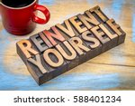 reinvent yourself  ... | Shutterstock . vector #588401234
