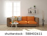 white room with sofa.... | Shutterstock . vector #588402611