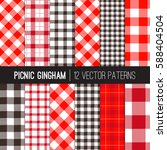 Red Picnic Tablecloth Gingham...