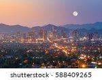 top view of downtown phoenix... | Shutterstock . vector #588409265