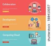 web and development conceptual... | Shutterstock .eps vector #588410057