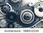 Engine Gear Wheels  Closeup View