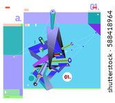 vector of triangle geometric 3d ... | Shutterstock .eps vector #588418964