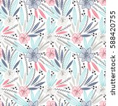 colorful seamless floral pattern   Shutterstock .eps vector #588420755