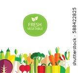 vegetables vector illustration | Shutterstock .eps vector #588422825
