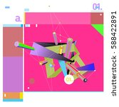 vector of triangle geometric 3d ... | Shutterstock .eps vector #588422891