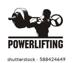 bodybuilder working out  doing... | Shutterstock .eps vector #588424649