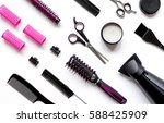 combs and hairdresser tools on... | Shutterstock . vector #588425909