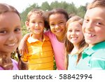 portrait of happy preschoolers... | Shutterstock . vector #58842994