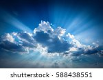 beautiful beam of light and the ... | Shutterstock . vector #588438551