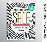 modern trendy sale poster...   Shutterstock .eps vector #588440585