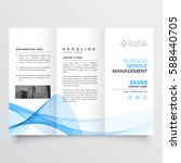 business tri fold brochure... | Shutterstock .eps vector #588440705