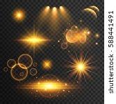 set of transparent lens flare... | Shutterstock .eps vector #588441491