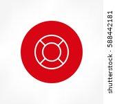 lifebuoy icon | Shutterstock .eps vector #588442181