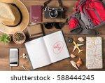 travel plan  trip vacation... | Shutterstock . vector #588444245