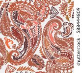 pastel paisley traditional hand ... | Shutterstock .eps vector #588444809