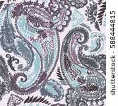 pastel paisley traditional hand ... | Shutterstock .eps vector #588444815