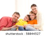 parents with their  children... | Shutterstock . vector #58844527