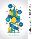 oil and gas refinery... | Shutterstock .eps vector #588446135