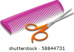 illustration of comb and... | Shutterstock . vector #58844731