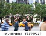 People Walking In Motion Blur...