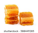 fresh honeycombs and honey... | Shutterstock . vector #588449285
