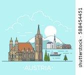 austria country design template.... | Shutterstock .eps vector #588454451