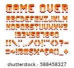 pixel retro font computer game... | Shutterstock .eps vector #588458327