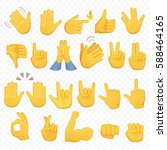 set of hands icons and symbols. ... | Shutterstock .eps vector #588464165