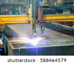 high precision cnc gas or... | Shutterstock . vector #588464579
